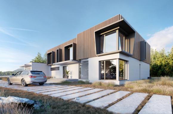 Nowoczesne domy piętrowe w nowościach
