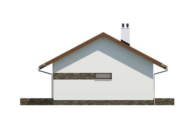 Zobacz powiększenie elewacji bocznej lewej - projekt Royan