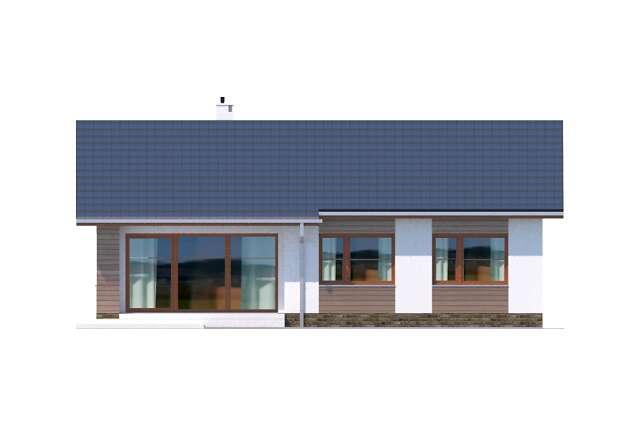 Zobacz powiększenie elewacji ogrodowej - projekt Royan IV