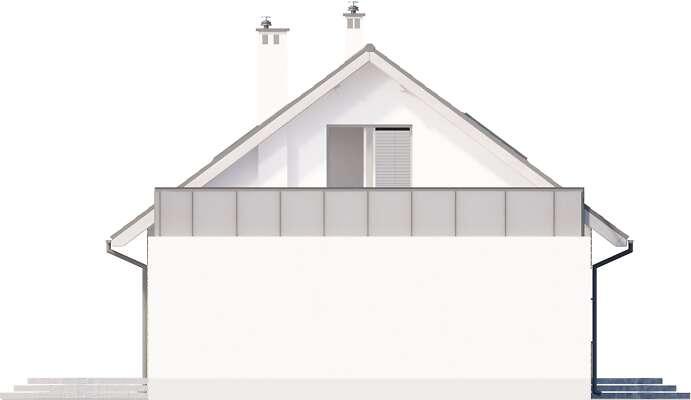 Elewacja boczna lewa - projekt Royan V