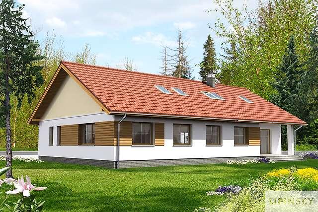 Zobacz powiększenie wizualizacji ogrodowej - projekt Aosta II