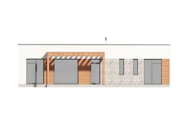 Zobacz powiększenie elewacji ogrodowej - projekt Ribeira