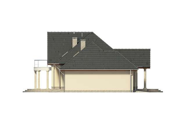 Zobacz powiększenie elewacji bocznej lewej - projekt Orlean