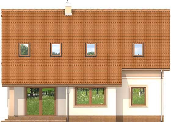 Elewacja ogrodowa - projekt Lizbona II