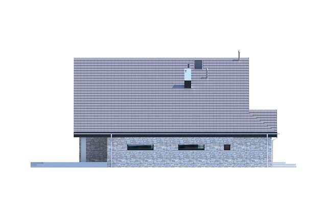 Zobacz powiększenie elewacji bocznej lewej - projekt Lagos III
