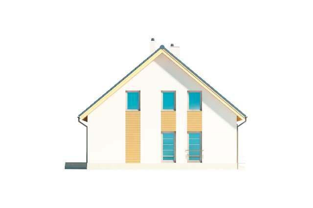 Zobacz powiększenie elewacji bocznej lewej - projekt Brugia
