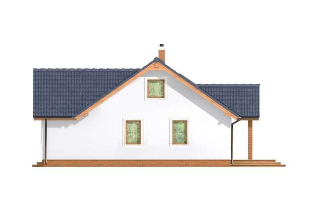 Zobacz powiększenie elewacji bocznej lewej - projekt Malaga