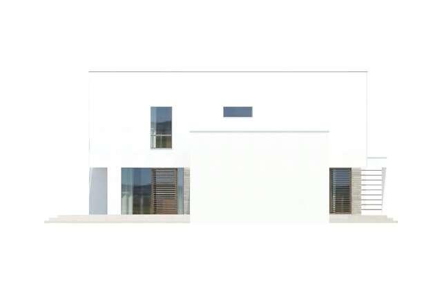Zobacz powiększenie elewacji bocznej lewej - projekt Cork