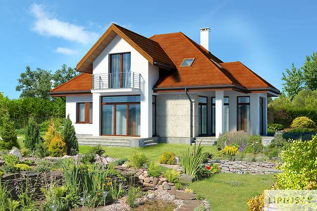 Zobacz powiększenie wizualizacji ogrodowej - projekt Dijon IV