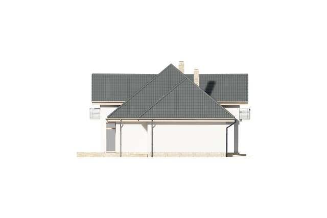 Zobacz powiększenie elewacji bocznej lewej - projekt Dijon VI