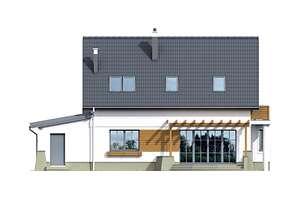 Elewacja ogrodowa - projekt Tacoma IV