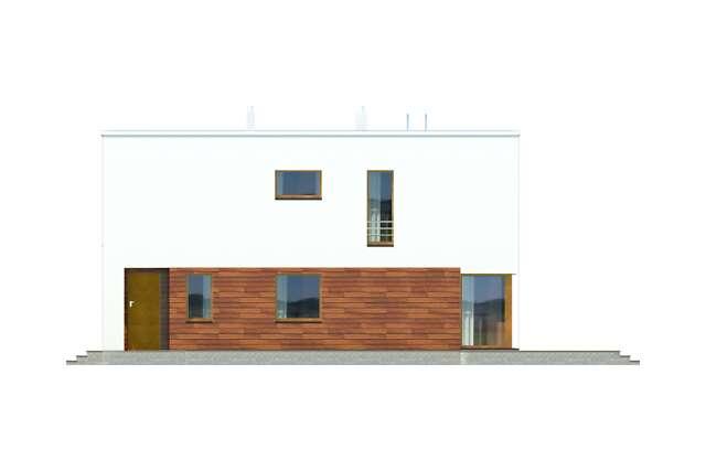 Zobacz powiększenie elewacji bocznej prawej - projekt Tottori