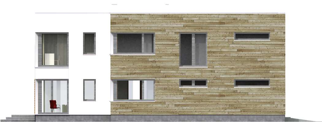 Elewacja boczna prawa - projekt Aarhus