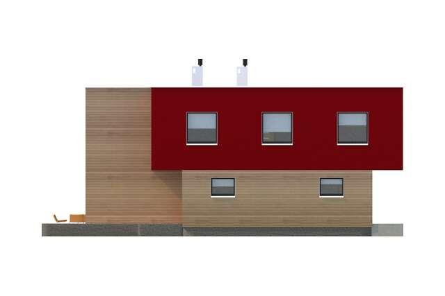Zobacz powiększenie elewacji bocznej lewej - projekt Delft II