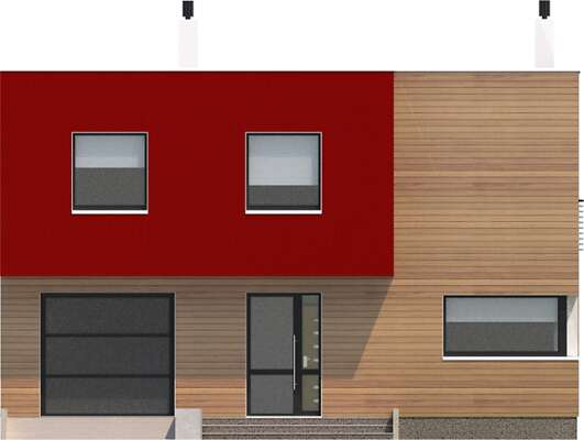 Elewacja frontowa - projekt Delft II