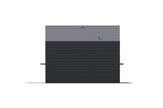 Zobacz powiększenie elewacji bocznej lewej - projekt Temerin II
