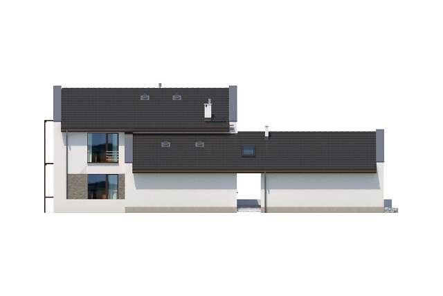Zobacz powiększenie elewacji bocznej lewej - projekt Quimper