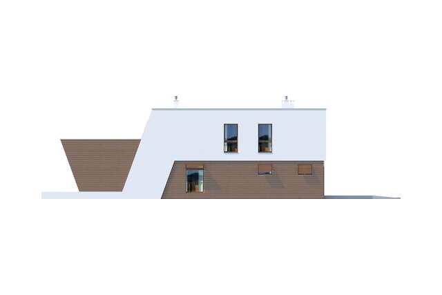 Zobacz powiększenie elewacji bocznej lewej - projekt Leeds