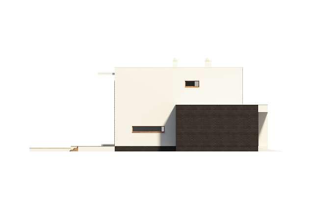 Zobacz powiększenie elewacji bocznej lewej - projekt Carrara