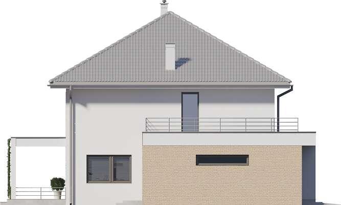 Elewacja boczna lewa - projekt Carrara III