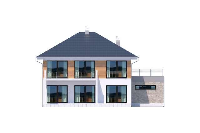 Zobacz powiększenie elewacji ogrodowej - projekt Carrara IV