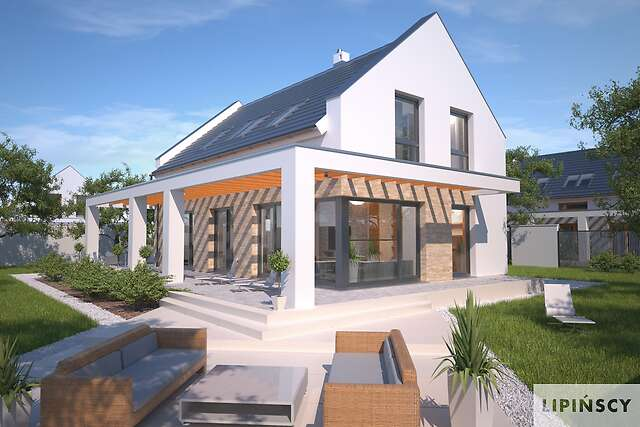 Zobacz powiększenie wizualizacji ogrodowej - projekt Bergamo II