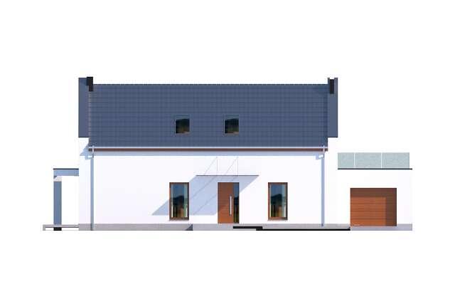 Zobacz powiększenie elewacji frontowej - projekt Bergamo IV