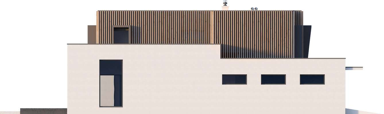 Elewacja boczna lewa - projekt Annecy