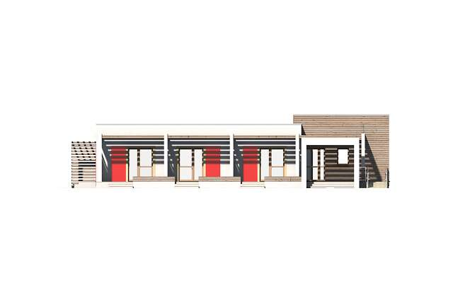 Zobacz powiększenie elewacji frontowej - projekt Budynek agroturystyczny Jesion