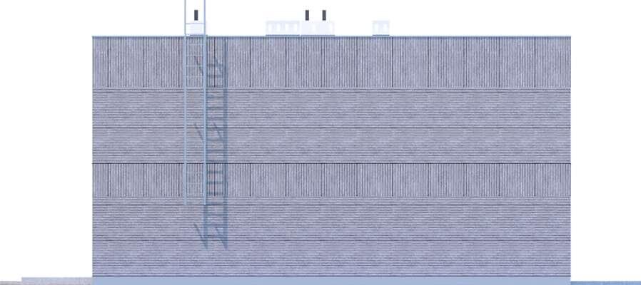 Elewacja boczna lewa - projekt Springfield II