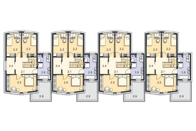 Zobacz powiększenie rzutu kondygnacji Piętro - projekt Tilburg