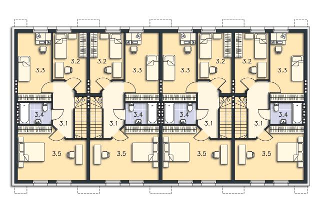 Zobacz powiększenie rzutu kondygnacji Poddasze (mieszkanie 2) - projekt Belfort