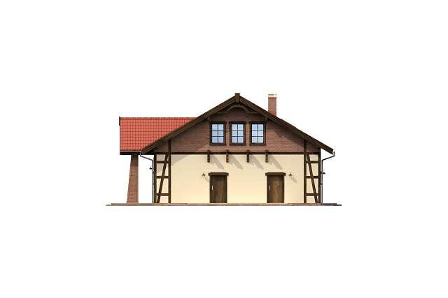 Zobacz powiększenie elewacji bocznej prawej - projekt Budynek usługowy Orzeł