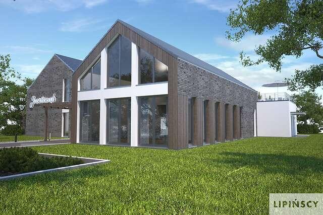 Zobacz powiększenie wizualizacji frontowej - projekt Budynek usługowy Jastrząb
