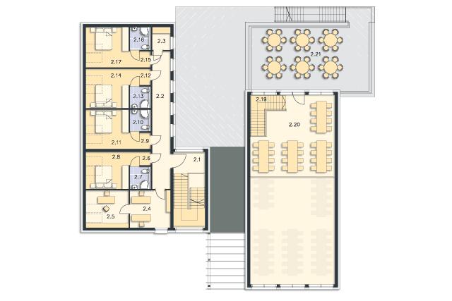 Zobacz powiększenie rzutu kondygnacji Poddasze - projekt Budynek usługowy Jastrząb
