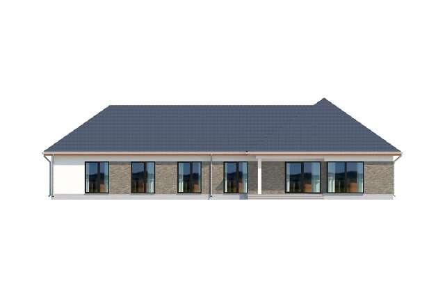 Zobacz powiększenie elewacji ogrodowej - projekt Budynek usługowy Office 1