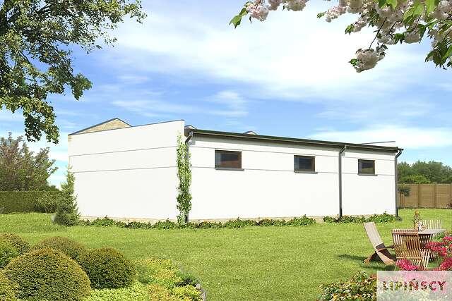 Zobacz powiększenie wizualizacji ogrodowej - projekt Garaż