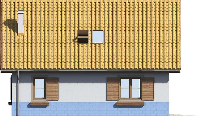 Elewacja boczna lewa - projekt Garaż