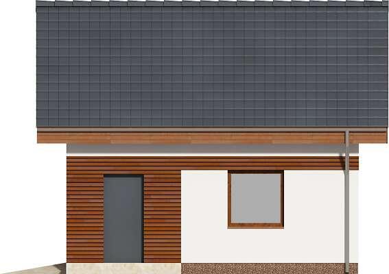 Elewacja boczna prawa - projekt Garaż
