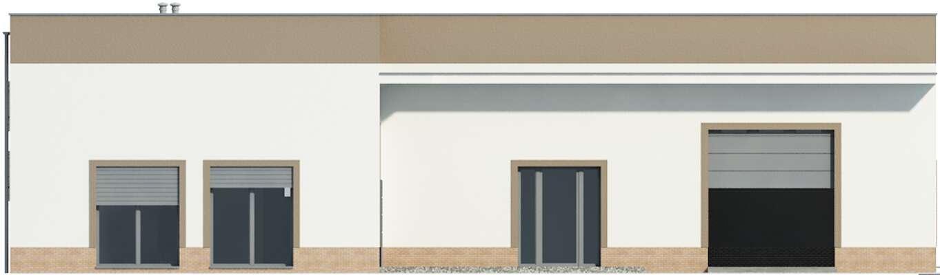 Elewacja frontowa - projekt Budynek usługowy