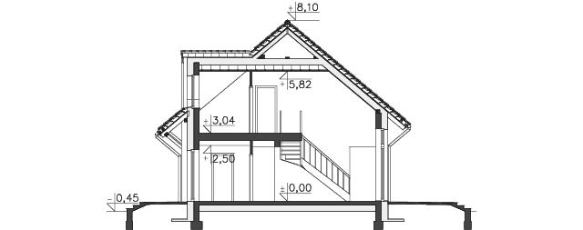 Przekrój - projekt Lipińscy Dom Pasywny 1