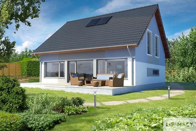 Zobacz powiększenie wizualizacji ogrodowej - projekt Lipińscy Dom Pasywny 2