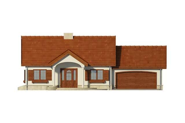 Zobacz powiększenie elewacji frontowej - projekt Sofia VI