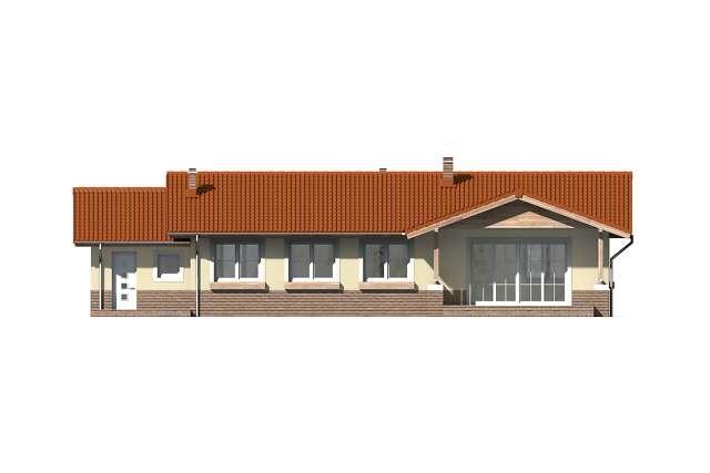 Zobacz powiększenie elewacji ogrodowej - projekt Aspen V