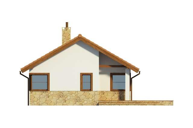 Zobacz powiększenie elewacji frontowej - projekt Lucca II