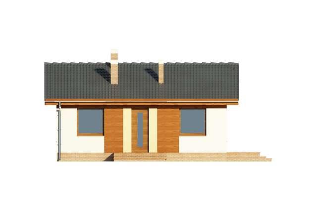 Zobacz powiększenie elewacji frontowej - projekt Bibione