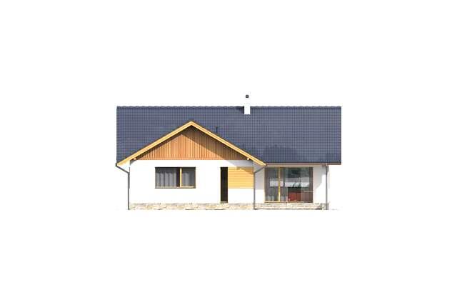 Zobacz powiększenie elewacji ogrodowej - projekt Pyszny