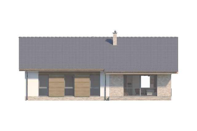 Zobacz powiększenie elewacji ogrodowej - projekt Arosa