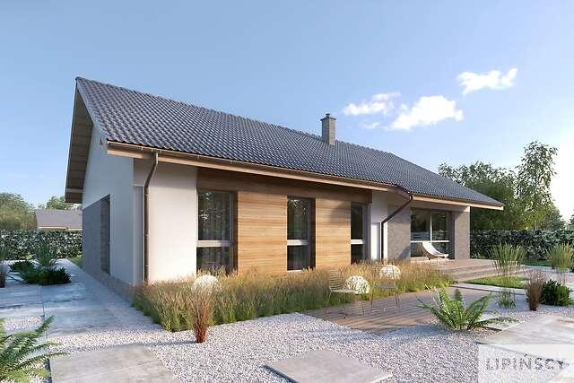 Zobacz powiększenie wizualizacji ogrodowej - projekt Arosa