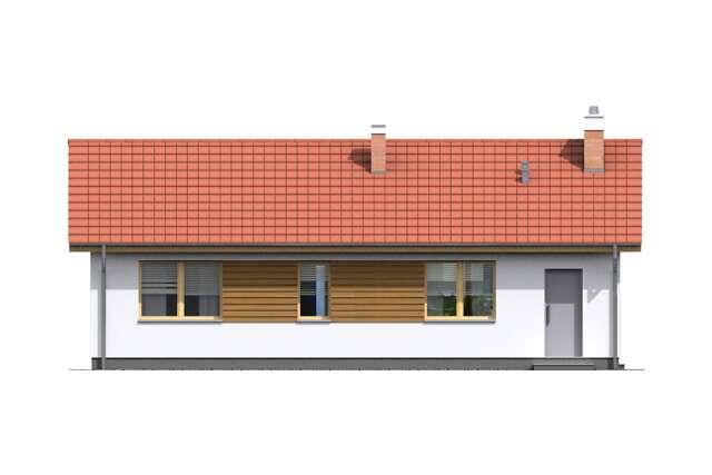 Zobacz powiększenie elewacji ogrodowej - projekt Itaka II